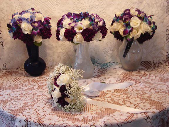 Bridal bouquets for Ashely