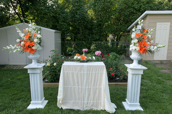 Backyard Anniversary Setting