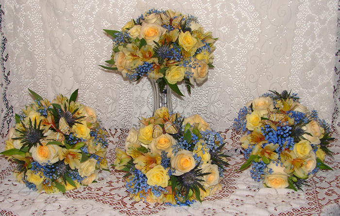 Bouquets with different colours